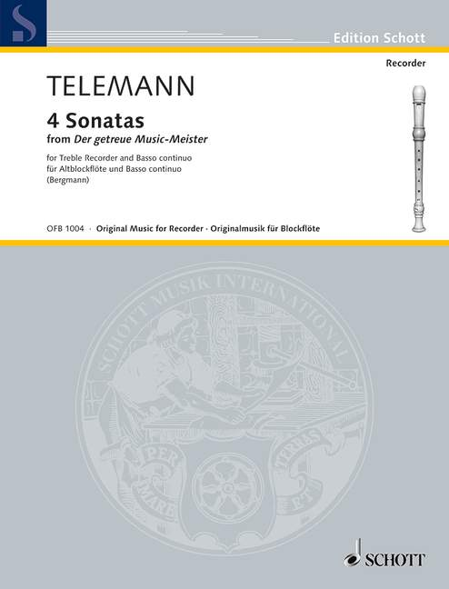 4-Sonatas-from-Der-getreue-Music-Meister-Telemann-treble-recorder-and-basso-co
